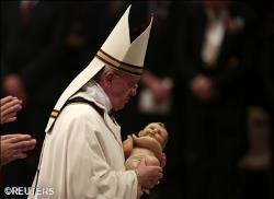 el Papa en la misa de Nochebuena